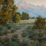 Jeanne Mackenzie, Teton Morning, oil, 11 x 14.