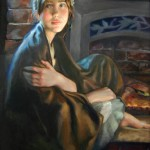 Julia Maddalina, Girl With Shawl, oil, 30 x 24.