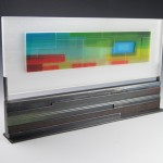 Morgan Madison, Spectrum #2, kiln-formed glass, 14 x 24 x 1.
