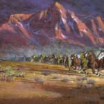 Frank Magsino, Stampede, oil, 2 x 5.
