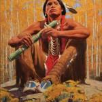David Mann, Autumn Flute Song, oil, 24 x 20.