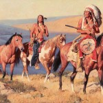 David Mann, Cheyenne Ridge, oil, 24 x 36.