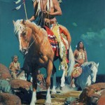 David Mann, Omen in the Sky, oil, 36 x 24.