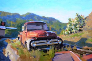Tim Horn, Manor Ford, oil, 30 x 40.