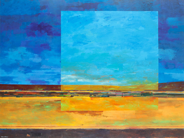 Mark Bowles, 5:30 and 6:30 pm, acrylic, 60 x 80.