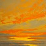 Mark White, Galisteo Dawn, oil, 30 x 24.