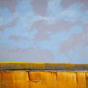 Mark White, Mesa's Edge, oil, 36 x 36.