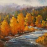 David Marty, Autumn Aglow, oil, 8 x 10.
