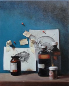 Holly Mathews, Chemistry, oil, 20 x 16.