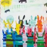 Wendeline Matson, Pasture, acrylic, 48 x 48.