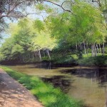 David Bottini, May Along the Canal, acrylic, 24 x 30.