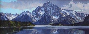Greg McHuron, Jackson Lake Mirror, oil, 20 x 48.