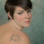 Ann Kraft Walker, Megan's Creed, oil, 14 x 12.