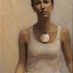 Melissa Franklin Sanchez, Always Dreaming (self portrait), oil, 28 x 16.