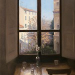 Melissa Franklin Sanchez, My Window, oil, 37 x 24.