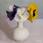 Melissa Franklin Sanchez, Pansies, oil, 9 x 13.