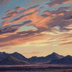 Ed Mell, Sunrise Over the McDowells, oil, 10 x 14. Estimate: $3,500-4,000.