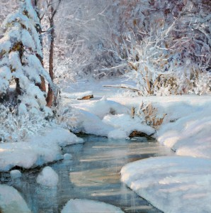 Michael Godfrey, The Beauty of Winter, oil, 13 x 13.