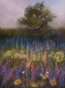 Heather Coen, Misty Meadow, pastel, 8 x 10.