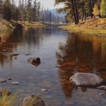 Jay Moore, Salmon Lake Outlet, oil painting