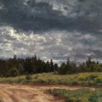 Jason Sacran, Morning Clouds, oil, 16 x 24.