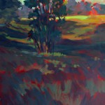 Mark Mehaffey, Morning Light, acrylic plein-air painting