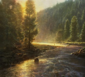 Brent Cotton, Morning in the Wilderness, oil, 36 x 40.