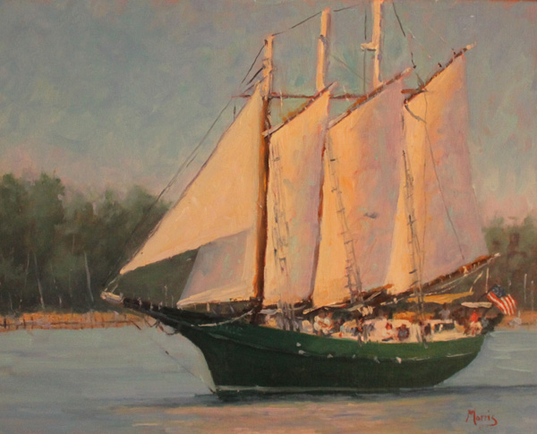 Suzanne Morris, Returning to Port, oil, 12 x 16.