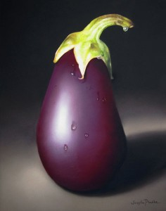 Mr. Aubergine, pastel, 11 x 14.