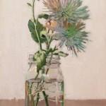 Dianne Massey-Dunbar, Mums, oil, 17 x 10.