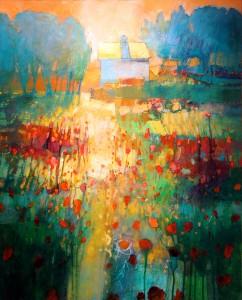 Mark Gould, My Neighbor's House 890, acrylic, 30 x 24.