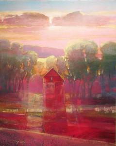 Mark Gould, My Neighbor's House 925, acrylic, 20 x 16.