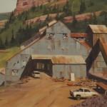 Niles Nordquist, Telluride Mines, oil, 14 x 18.