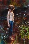 Nathaniel Skousen, Summer Stream, oil, 24 x 36.
