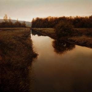Renato Muccillo | Neaves Road Canal, oil, 24 x 24. Courtesy White Rock Gallery.