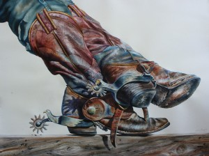 Nelson Boren, Old Patriot, watercolor, 40 x 53.
