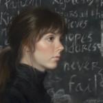 Ann Kraft Walker, Never Fails, oil, 12 x 14.