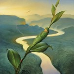Vladimir Kush, New Day, oil, 13 x 10.