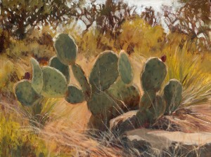 Kay Northup, Prickly Business, oil, 12 x 16.