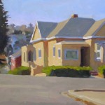 Tim Horn, Not a Through Street, oil, 12 x 24.