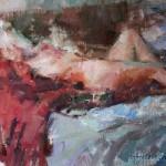 Carolyn Anderson | Nude, oil, 9 x 12.