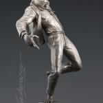 Martin Eichinger, Off Kilter, bronze, 39 x 17 x 13.