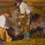 David Griffin, Old School Teamwork, oil, 30 x 24.