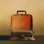 Wendy Chidester, Olivetti Lettera 22, oil, 27 x 27.