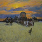 Ernest Chiriacka, On the Oregon Trail, oil, 18 x 20.