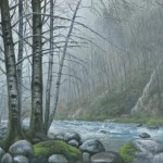 Kasey Nixon, Oregon Coastal River, oil, 11 x 14.