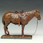 Dan Ostermiller, Empty Saddle, bronze, 14 x 21 x 6, Nedra Matteucci Galleries.