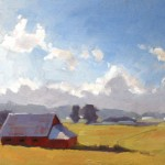 Tim Horn, Out of the Blue, oil plein-air painting