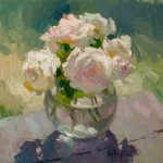 Gregory Packard, Roses Outside, oil, 16 x 16.