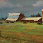 Kyle Paliotto, Spring Hay, oil, 15 x 30.